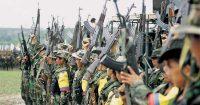 Guerrilleros de las FARC. Foto: León Darío Peláez / SEMANA