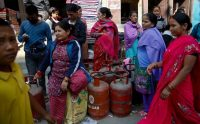 Waiting in line for cooking gas in Kathmandu. Credit Narendra Shrestha/European Pressphoto Agency