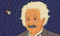'In a series of four lectures delivered at the Prussian Academy of Sciences in Berlin in November and December 2015, Einstein presented a new theory of gravitation.' Illustration: Jasper Rietman