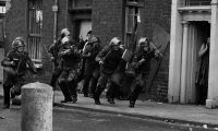 A scene from the Bogside in Derry in 1971 taken by Don McCullin. Photograph: Don McCullin/PA