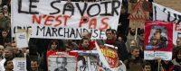 Manifestations contre les réformes de l'Université à Marseille, 2009. © Jean-Paul Pelissier / Reuters
