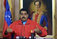 President Nicolás Maduro attributed his party's election defeat to right-wing forces at home and abroad that he accused of waging ''economic war'' on Venezuela. Credit Presidencia/Agence France-Presse — Getty Images