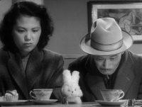 Miki Odagiri as Toyo Odagiri and Takashi Shimura as Kanji Watanabe in Kurosawa's Ikiru, 1952