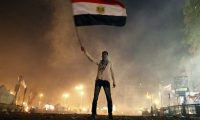 Tahrir Square, 2013. 'Egypt saw an elected Muslim Brotherhood government thrown out by the army in a coup d'etat that had much popular support, but which has resulted in a regime that is no less authoritarian than Mubarak's.' Photograph: Mahmoud Khaled/AFP/Getty
