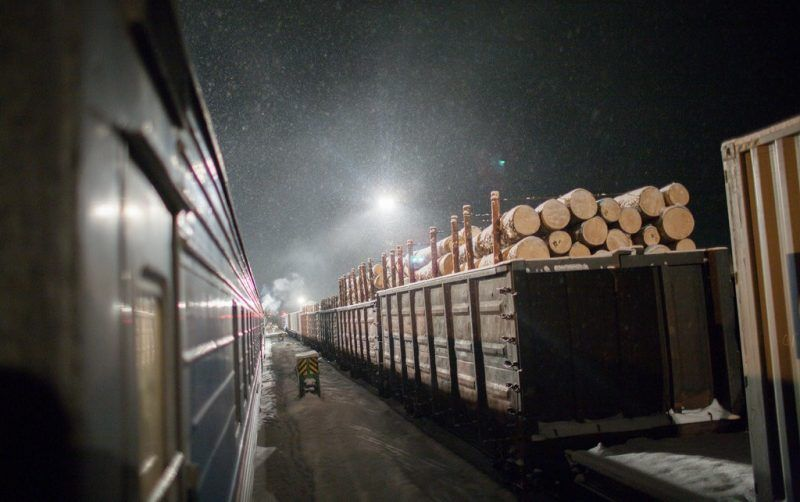 Russian lumber in transit in 2008. Credit Michael Christopher Brown/Magnum Photos