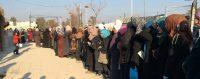 Distribution de nourriture par le CICR dans une zone tampon près de Damas. © PAWEL KRZYSIEK / AFP / CICR