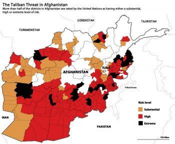 MAPA 1: riesgo provincial según UNAMA