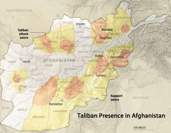 Mapa 2. Actividad talibán en el segundo semestre de 2015