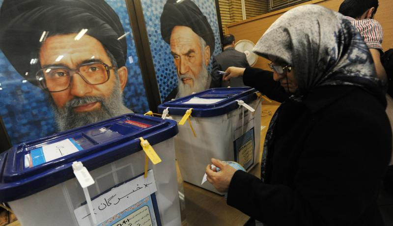 Iranians vote in key elections for parliament and the Assembly of Experts in Tehran on 26 February 2016. Photo by Getty Images.