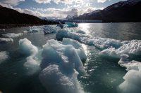 La mayoría de los glaciares en el Parque Nacional Los Glaciares en Argentina han estado retrocediendo en los últimos cincuenta años por las altas temperaturas, según la Agencia Espacial Europea. Mario Tama/Getty Images
