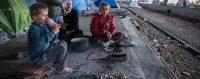 Les alentours du camp d'Idomeni, en Grèce, le 20 mars 2016. © Matt Cardy / Matt Cardy