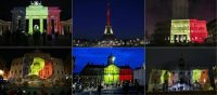 'Every national monument, TV news trailer, Facebook profile picture and even Uber icon wrapped in the colours of the Belgian flag, amplifies a message of the barabaric assault on a noble victim.' Photograph: Odd Andersen/AFP/Getty Images