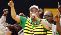 South Africa and ANC president Jacob Zuma at the official launch of the municipal elections manifesto on 16 April 2016 in Port Elizabeth. Photo by Getty Images.