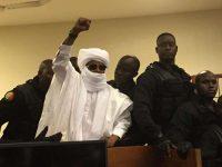 L'ancien dictateur tchadien Hissène Habré, lors de sa condamnation le 30 mai à Dakar. Photo Carley Petesch. AP