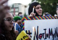 A vigil in Seattle honoring the victims of the shooting in Orlando, Fla. Lindsey Wasson/The Seattle Times, via Associated Press