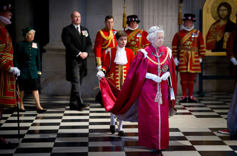 Queen Elizabeth II attended a service of the Order of the British Empire in St. Paul's Cathedral, London, in 2012. Geoff Pugh/Daily Telegraph, via Associated Press.