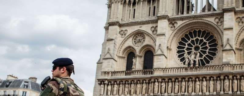 Pendant la messe à Notre-Dame de Paris mercredi 27 juillet, en mémoire du père Jacques Hamel. © 2016 Aurélien Morissard/IP3