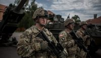 US soldiers arrive at Czech army barracks for NATO exercises on 27 May 2016. Photo by Getty Images.