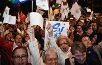 Decenas de colombianos celebraron el acuerdo final de paz entre el gobierno de Colombia y las Farc. Guillermo Legaria / Agence France-Presse — Getty Images