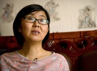 Lawyer Wang Yu shown in Beijing last year. (Mark Schiefelbein/Associated Press)