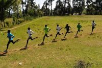 A training session in January in Iten, Kenya. Simon Maina/Agence France-Presse — Getty Images
