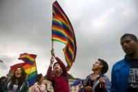Activistas LGBT en una protesta celebrada el 23 de abril de 2013, en Bogotá Eitan Abramovich / Agence France-Presse — Getty Images.