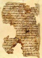 Fragment du Coran calligraphié en coufique, style développé dans la ville de Koufa en Irak. Donation au Vatican en 1946. Photo Biblioteca Apostolica Vaticana