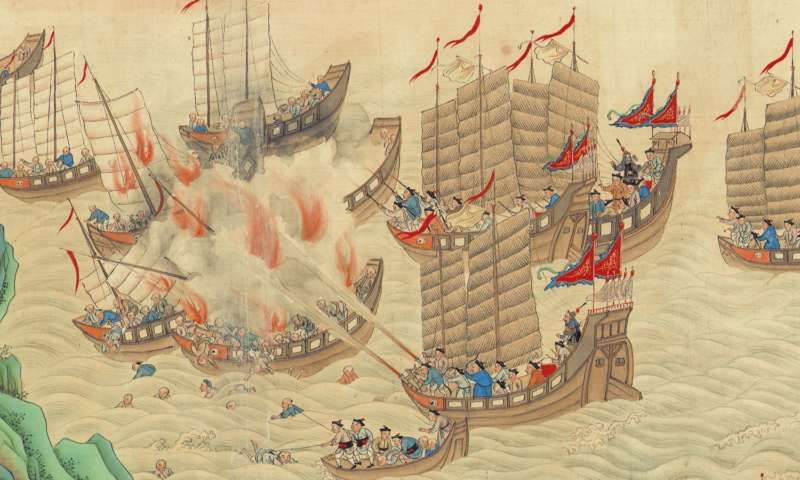 Portion of a Qing scroll on battling 19th Century piracy in the South China Sea (Wikipedia)