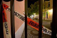 Cinta policial alrededor del lugar donde ocurrió una explosión en Ansbach, Alemania, el 25 de julio de 2016. Murió un hombre, hubo 12 heridos. Aún no se conocen los motivos de la explosión. Daniel Karmann / European Pressphoto Agency.