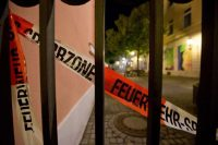 Police tape outlined the scene in Ansbach, in southern Germany, where a man blew himself up last month. Daniel Karmann/European Pressphoto Agency
