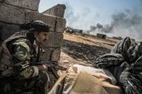 Peshmerga forces during an operation to liberate villages under the control of the Islamic State southeast of Mosul, Iraq, in August. Andrea Dicenzo/European Pressphoto Agency