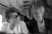 El expresidente israelí Simón Peres junto a su esposa, Sonya, en una imagen de 1985. HERMAN CHANAN EFE