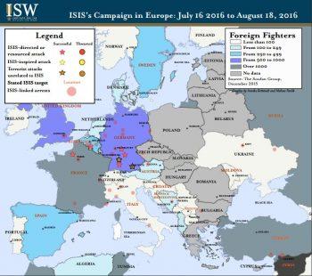 La campagne d'Europe de Daech