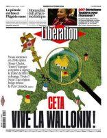Les irréductibles Wallons, tels les irréductibles du village d'Astérix… La très imaginative une de «Libération» de ce mardi. Liberation.fr