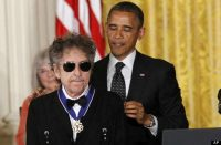 In 2012, Bob Dylan received a Medal of Freedom. Charles Dharapak AP