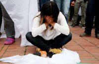 El voto por el No en Colombia no solo fue contra el acuerdo y las desprestigiadas Farc, sino contra un presidente cuya baja popularidad ha sido producida en gran medida por la oposición ejercida por su antecesor. Credit Leonardo Munoz/European Pressphoto Agency