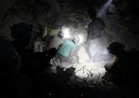 A Alep, le 4 octobre. Photo Thaer Mohammed. AFP