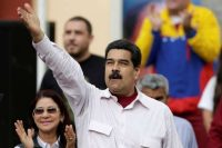 Venezuelan President Nicolás Maduro at a rally at in Caracas on June 14. (Marco Bello/Reuters)