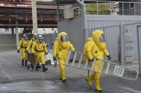 The Russian Emergencies Ministry launched a sweeping nationwide civil defense drill earlier this month. Russia Emergency Situations Ministry press service, via Associated Press