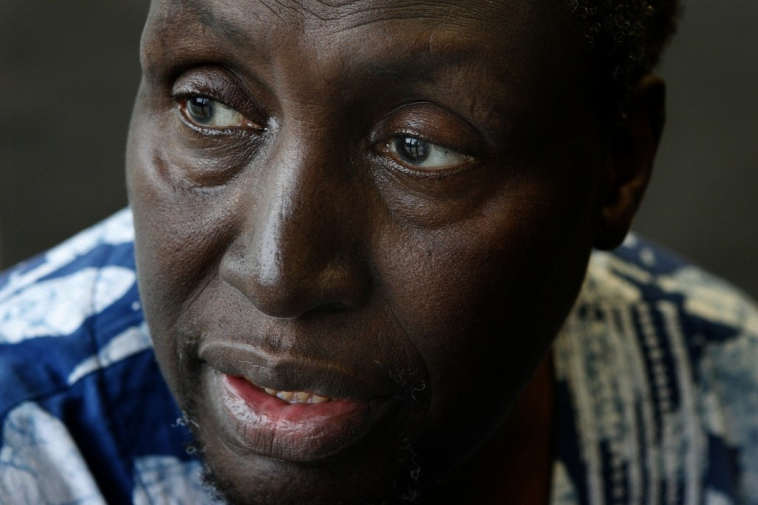 Kenyan writer and former political prisoner Ngugi wa Thiong'o at Howard University in Washington in 2006. (Nikki Khan/The Washington Post)