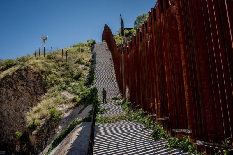 Nogales, Ariz. The American side of the border fence. Credit Tomás Munita for The New York Times