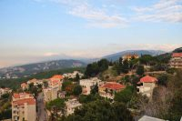 The view from Elias Muhanna's grandparents' balcony, in Roumieh, Lebanon, in 2010. Credit The Muhanna Family