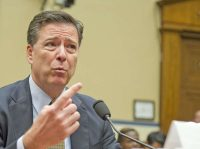 FBI director James Comey, Washington, DC, July 7, 2016. Rex Features via AP Images/Shutterstock