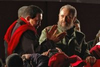 Cuban President Fidel Castro, right, with his Venezuelan counterpart, Hugo Chávez, in July 2006. (Pablo Porciuncula/Agence France-Presse via Getty Images)