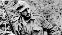 Fidel Castro as a young revolutionary in this undated photo, received by The Times in 1958.
