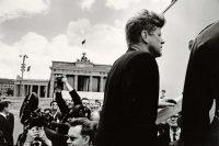 John F. Kennedy at the Brandenburg Gate in Berlin, in 1963. Will McBride-Camera Work/The Kennedy Museum, via Associated Press
