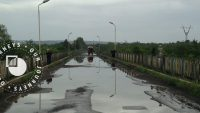 Spring rains cover the Rukhi bridge, located on the Georgian-Abkhaz conflict divide, before much needed renovation works began in summer 2016.