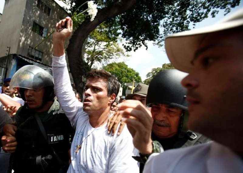 Opposition leader Leopoldo López, arrested in February, 2014 after he was denounced by Venezuela's government, has become the country's most prominent political prisoner. Alejandro Cegarra - AP
