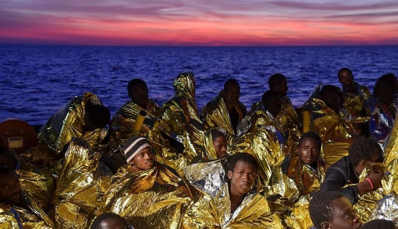 Resting aboard the Topaz Responder ship run by Maltese NGO Moas and the Italian Red Cross after a rescue operation off the coast of Libya. Photo by ANDREAS SOLARO/AFP/Getty Images
