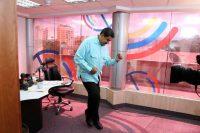 President Nicolas Maduro of Venezuela dances during his radio program. Reuters